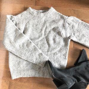 Puffy sleeve chunky sweater | H&M